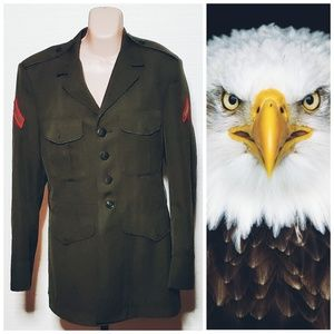 Authentic Green Military Jacket